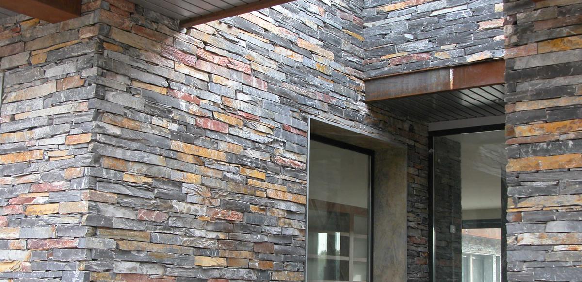 Piedra lajas y paneles premontados for Lajas de piedra natural